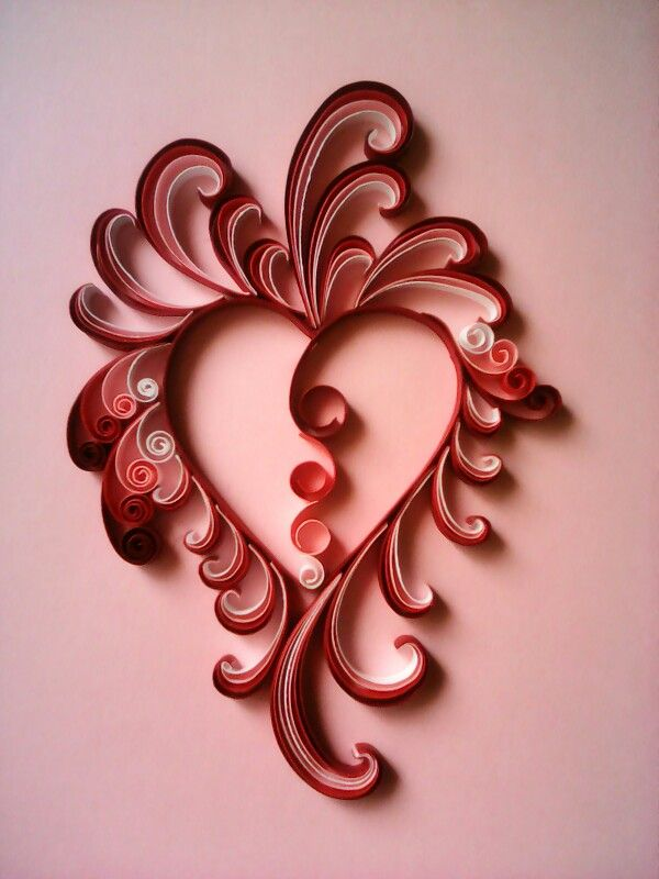 599 best Quilling Hearts images on Pinterest | Paper quilling ...