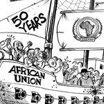 L'Union africaine a 50 ans... 50 ans d'insuccès - le dessin du jour par Gado (paru dans The Nation)