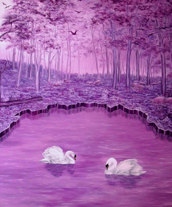 Poster,  dream,forest,scene,swans,lake,trees,nature,water,life,landscape,fantasy,big,birds,white,purple,violet,mauve,image,beautiful,fine,oil,painting,contemporary,scenic,modern,virtual,deviant,wall,art,beautiful,awesome,cool,artistic,artwork,for,sale,home,office,decor,decoration,decorative,items,ideas