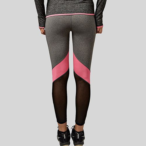 B.BANG Women Yoga Pants Hollow Out Net Yarn Splicing Yoga Capris for Running Sport Quick-drying Fitness Tights Woman Leggings
