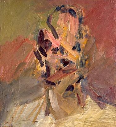Frank Auerbach - Head of David Landau 2008-9, 2008-2009 oil on canvas 61.3 x 56.2 cm.(24 1/8 x 22 1/8 in.)