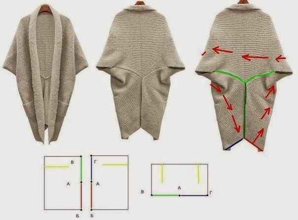 Nella valigia della Buru: DIY: cardigan con tre rettangoli di stoffa <3