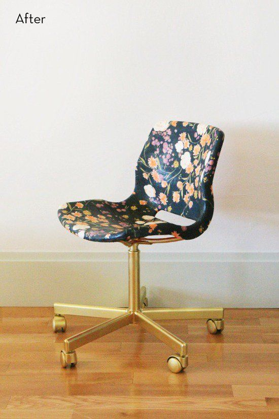 Ikea Hack: SNILLE Swivel Chair Goes from Mod to Feminine