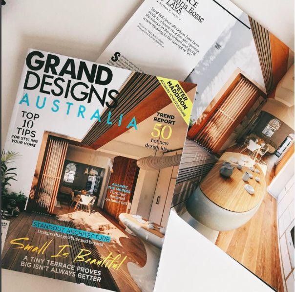 It's Design Furniture featured in Grand Designs Australia and House Magazine.