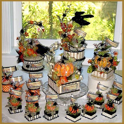 Gorgeous Halloween centerpieces via Patricia Minish DesignsGorgeous Halloween, Halloween Decor, Patricia Minish, Minish Design, Fall Halloween, Elegant Halloween, Halloween Fal, Halloween Centerpieces, Halloween 1