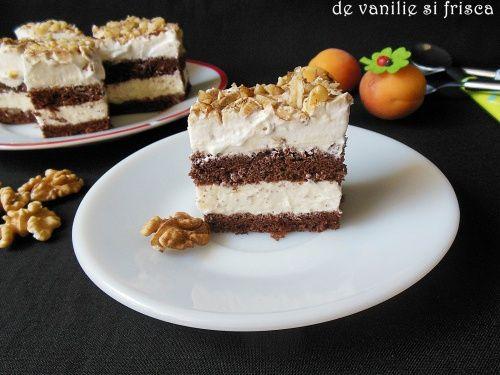 Prajitura cu crema de vanilie si frisca - imagine 1 mare