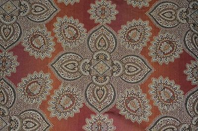 "Victorian Upholstery Fabric Designs | Jacquard Upholstery Fabric ""Formal Paisley"" Gold, Brown, Sold By The ..."