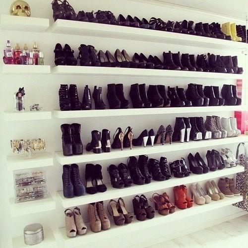 shoe floating shelf storage/ shoe wall