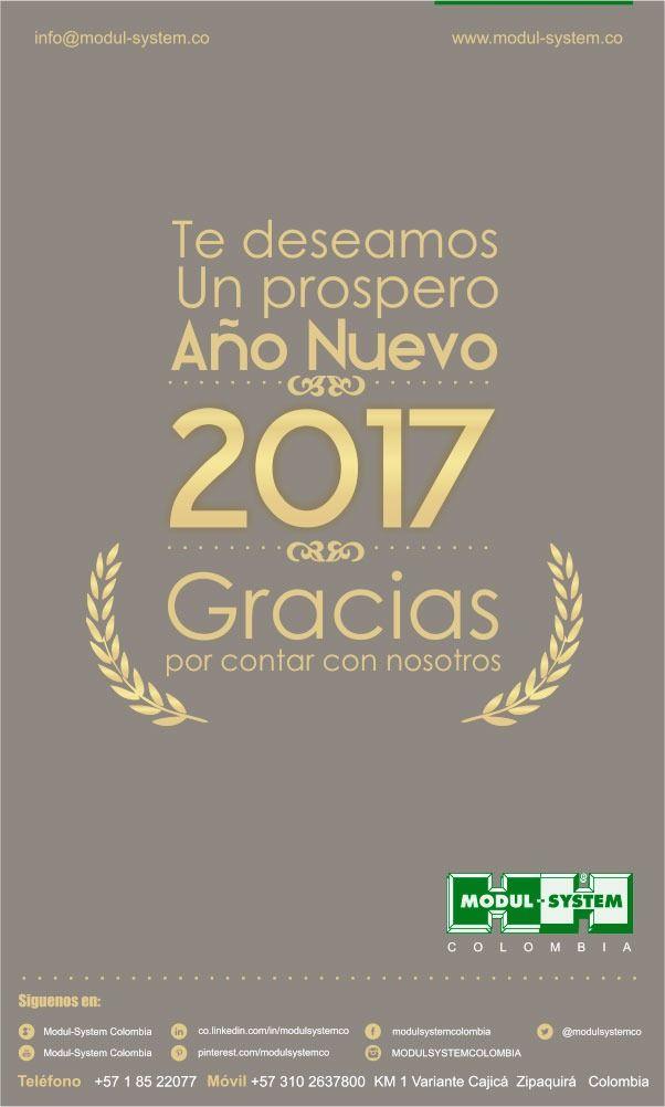 Gracias y feliz 2017 les desea @Modul-SystemColombia