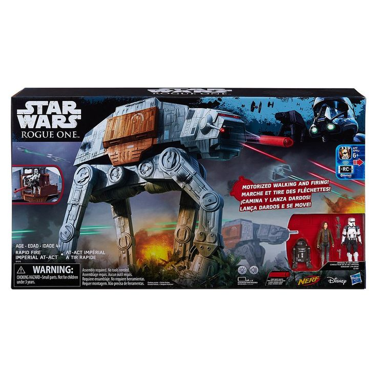 Star Wars: Rogue One Rapid Fire Imperial AT-ACT RC Vehicle by Nerf, Multicolor
