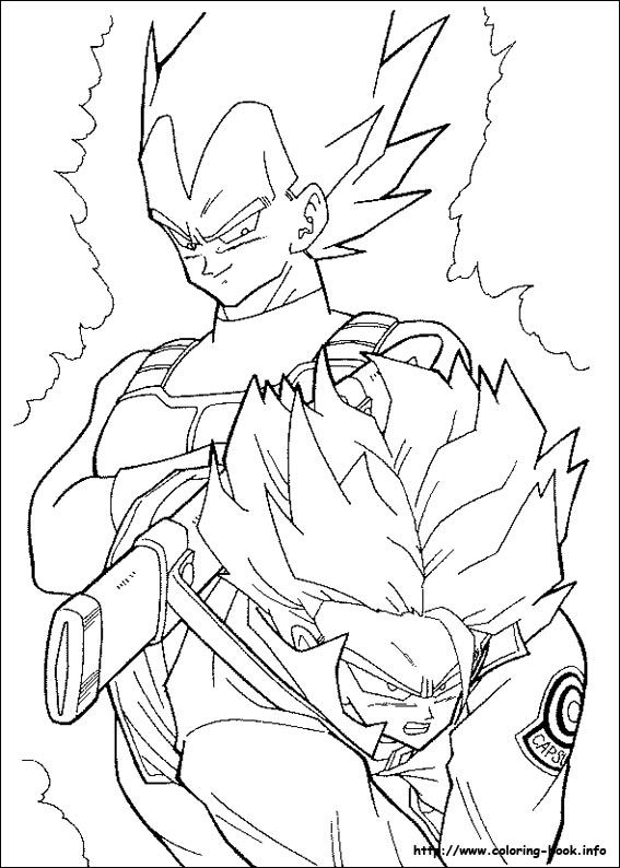 165 best Adult Coloring Pages images on Pinterest | Dragon ball z ...