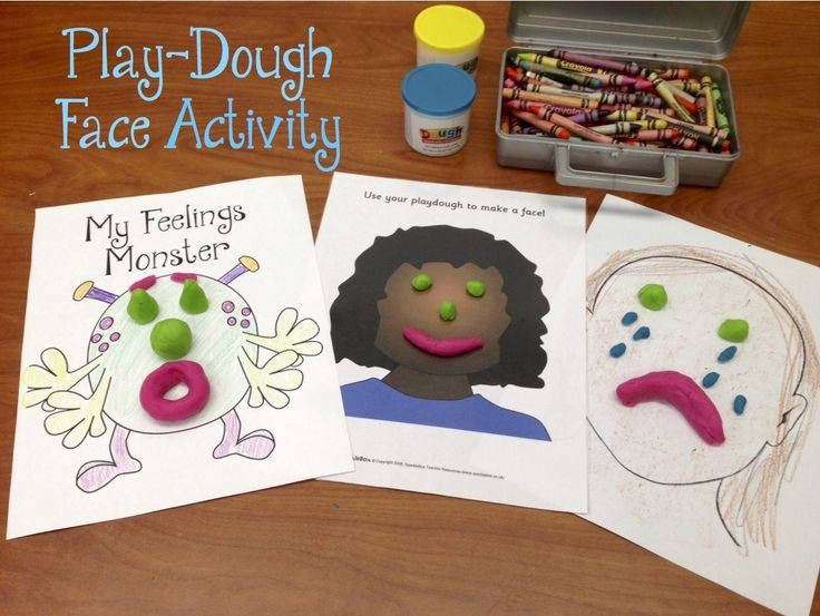 Play-Dough Feelings Face Activity: This is a simple feeling identification/affect regulation activity (good for TF-CBT) • Print out or draw a blank face (Click here for free printable faces). I usually just print the outline of a face and have...