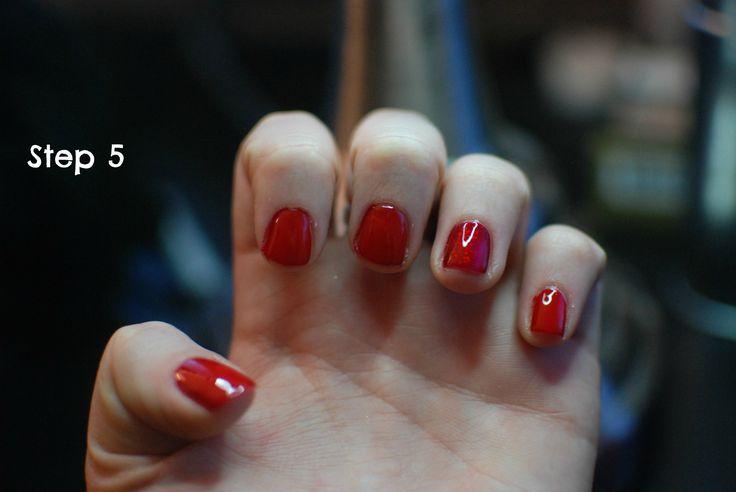Step by step uv gel top coat over regular nail polish