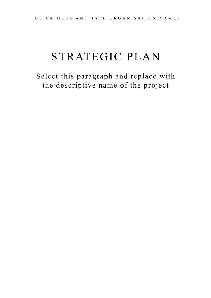 Best  Strategic Planning Template Ideas On