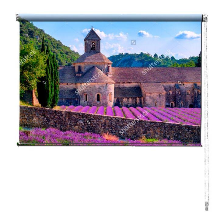 Rolgordijn Franse lavendel velden | De rolgordijnen van YouPri zijn iets heel bijzonders! Maak keuze uit een verduisterend of een lichtdoorlatend rolgordijn. Inclusief ophangmechanisme voor wand of plafond! #rolgordijn #gordijn #lichtdoorlatend #verduisterend #goedkoop #voordelig #polyester #frans #lavendel #velden #paars #veld #bloemen #bloem #landschap