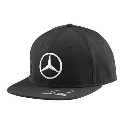 Mercedes AMG Petronas 2015 Lewis Hamilton Flat Brim Cap - Black Black