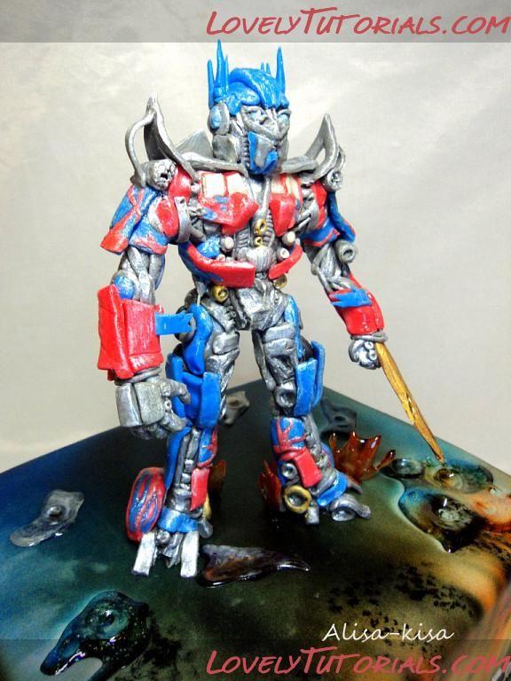 Optimus Prime Cake Topper Tutorial