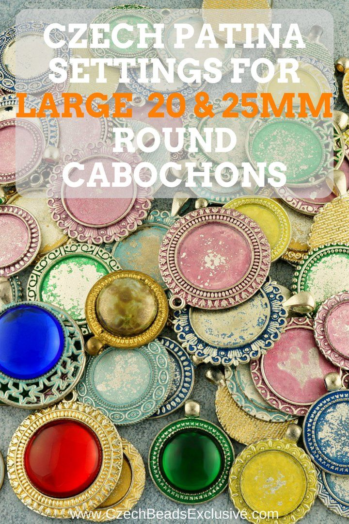 �Czech Patina Settings for Large 20mm and 25mm Round Cabochons �8 Popular Colors! - Buy now with discount!  Hurry up - sold out very fast! www.CzechBeadsExclusive.com/+round+patina+settings SAVE them! ??Lowest price from manufacturer! Get free gift! 1 shipping costs - unlimited order quantity!  Worldwide super fast ?? shipping with tracking number! Get high wholesale discounts! Sold with  at http://www.CzechBeadsExclusive.com #CzechBeadsExclusive #czechbeads #glassbeads #bead #beaded…