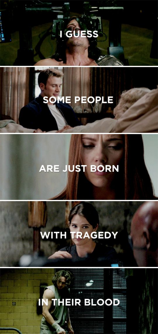 I guess some people are just born with tragedy in their blood #marvel