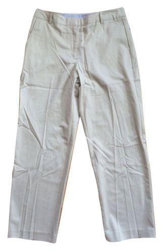 Kim Rogers NWT Shannon Fit Straight Leg Cotton Blend Pants, Stone - 10P