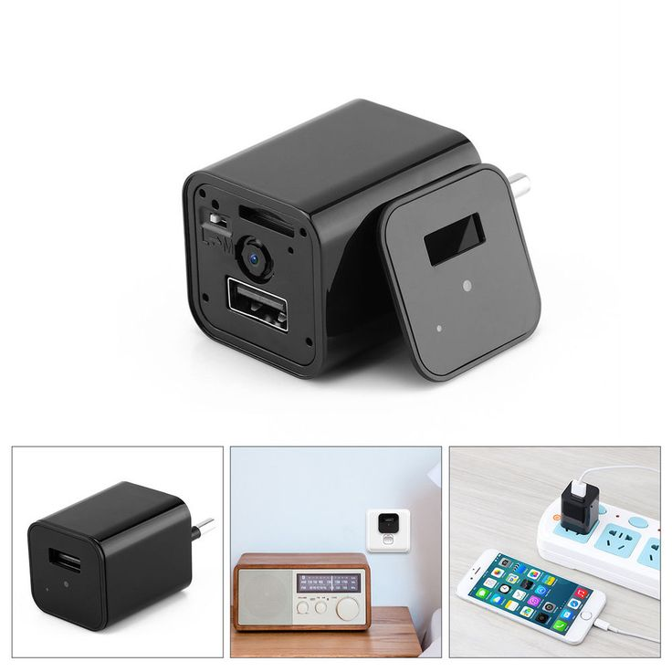 HD 1080P Hidden Spy Camera/Security cam WiFi Video Motion Detection charger #1080HD