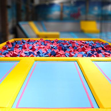 The foam pit is where you can practice your aerial tricks or simply enjoy the freedom of flying through the air. Airhop!