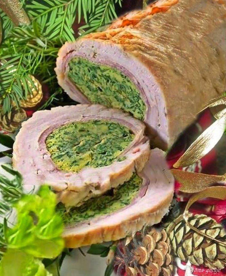 Gosia gotuje: Rolada z indyka faszerowana szpinakiem