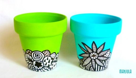 17 mejores ideas sobre macetas pintadas en pinterest Macetas ceramica online