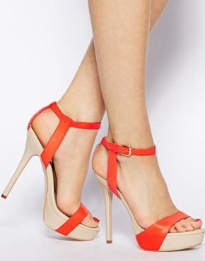 Carvela Gown Orange Heeled Sandals