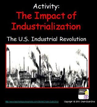 In this engaging activity students will learn about the impacts of the American Industrial Revolution on living and working conditions. They will first complete a gallery walk of pictures depicting the effects of the Industrial Revolution. Using the information they learned they will then write a paragraph. A summary of the impacts are included in the creative power point. $6