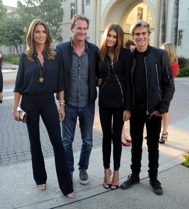 Cindy Crawford, Rande Gerber, Kaia Gerber, and Presley Gerber at the premiere of Sister Cities. (Photo: Getty Images)