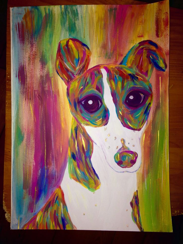 Tried to draw my Whippet ;-)