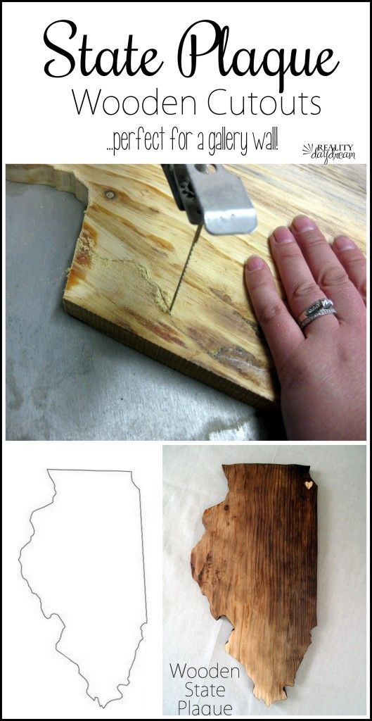 Make your own wooden state (or country) plaque! {Sawdust and Embryos}