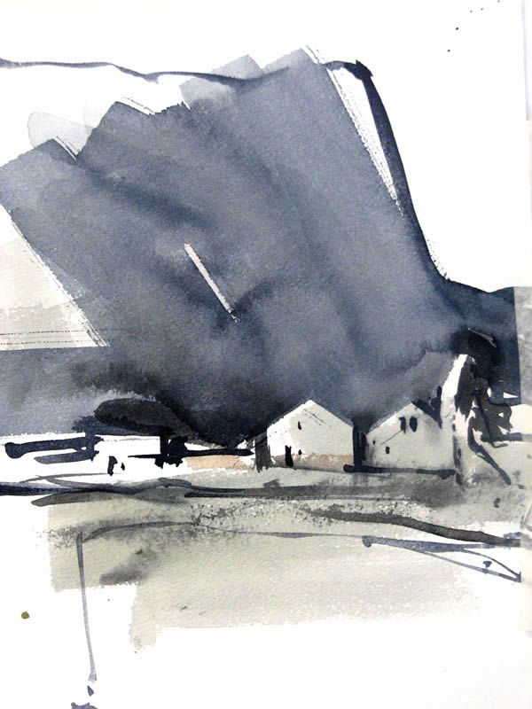 Watercolor painting Iceland 13