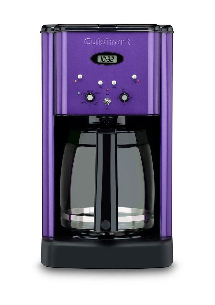 Purple Cuisinart Coffee Maker. Sweet! $90 at ideeli. :)