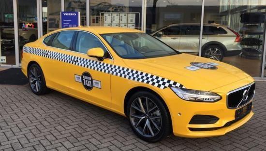 Spot deze gele Volvo S90 en win gratis eten!