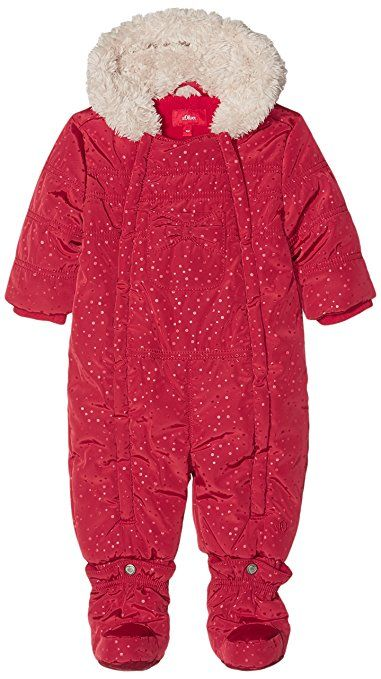 s.Oliver Unisex Baby Schneeanzug 59.610.85.2662, Rot (Red Aop 35A4), 62