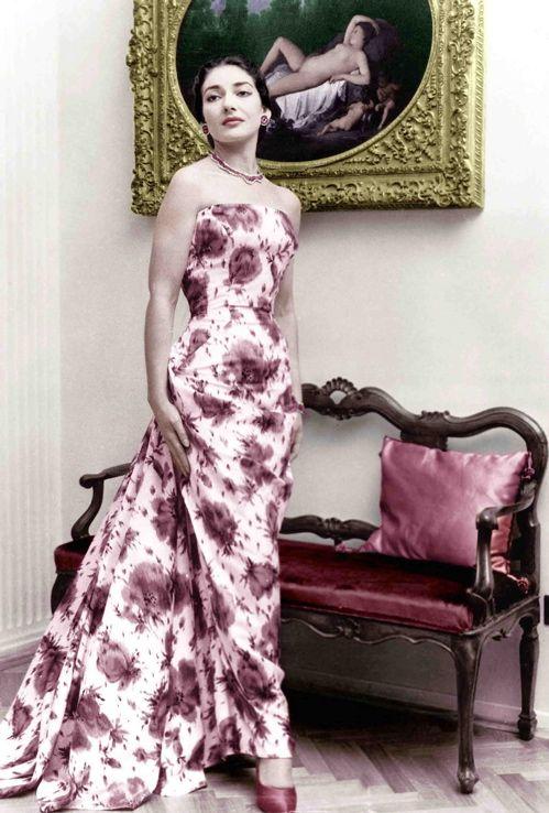 Maria Callas (à son domicile milanais 1955) © DR
