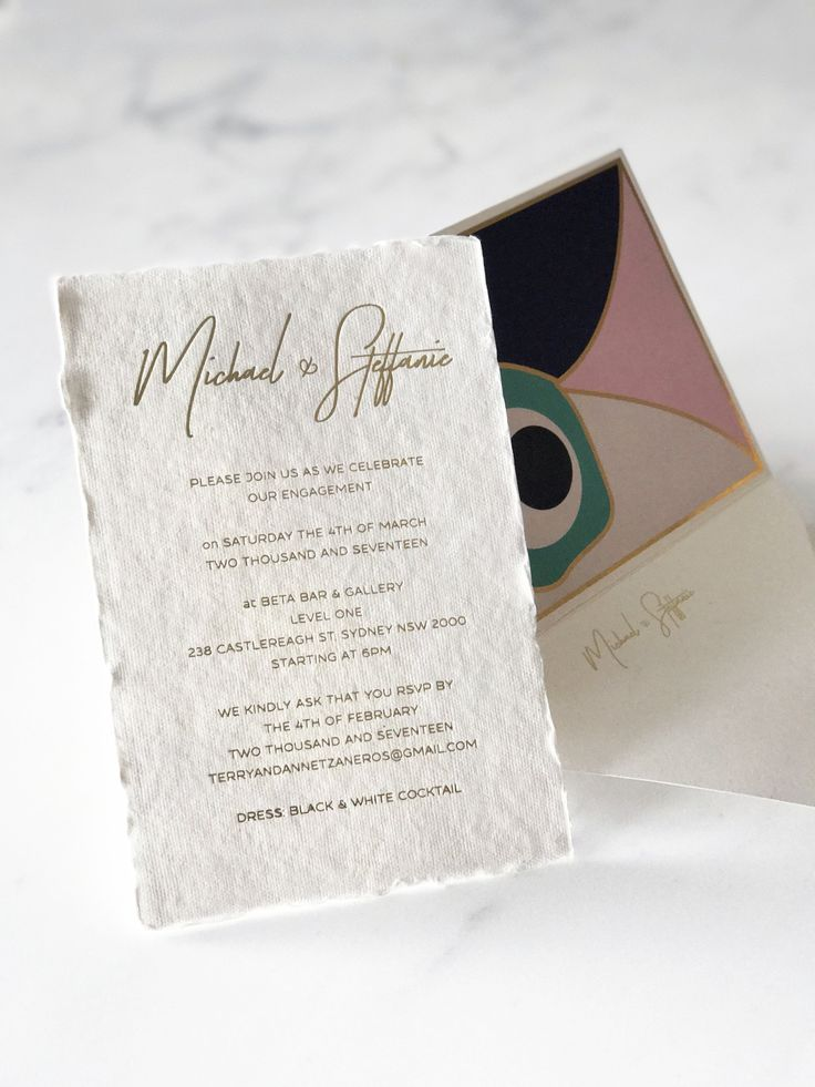 Alpha, Beta, Gamma: A Custom Invite Design – Envelopes by Olympia