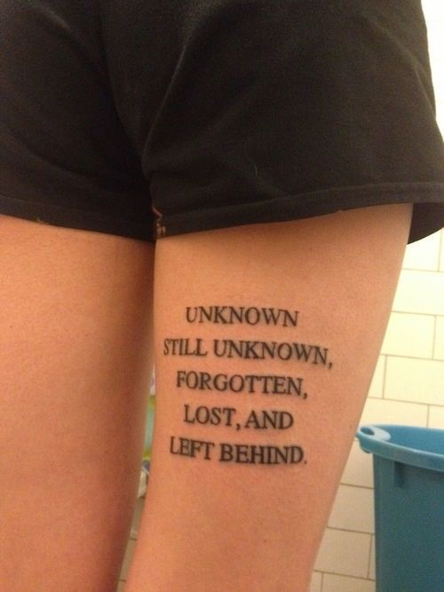 Quote Tattoos Thigh: 420 Best Inked Images On Pinterest