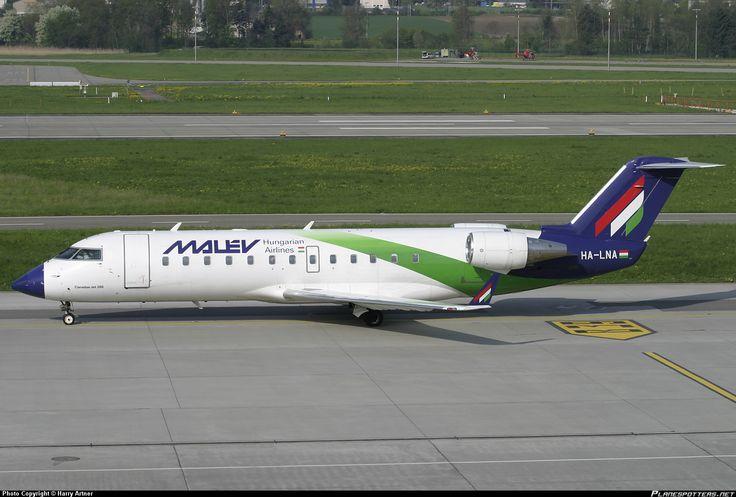 HA-LNA Malév Hungarian Airlines Canadair CL-600-2B19 Regional Jet CRJ-200ER