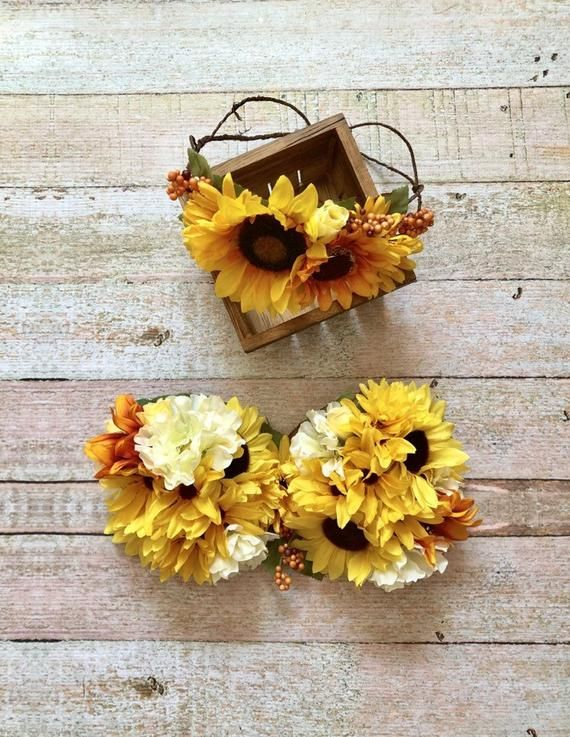 ac13aaafa Floral Maternity Bra and Crown - Sunflowers