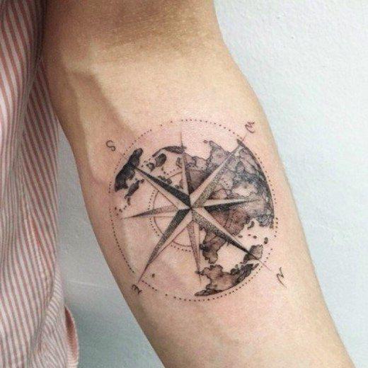 die besten 25 nautische kompass tattoo ideen auf. Black Bedroom Furniture Sets. Home Design Ideas