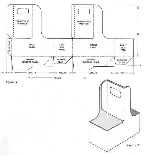 carton box template | Corrugated and folding carton box templates