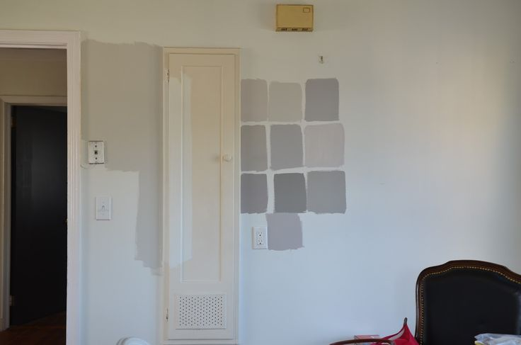 Benjamin Moore Nimbus (big swatch on left) BEST GREY paint EVER!!! I have this in my home, 2 years in and I'm still in love - my son also just started painting his new house in the same color!
