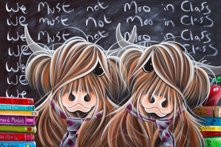 We Must Not Moo In Class By Jennifer Hogwood - Arthouse Gallery