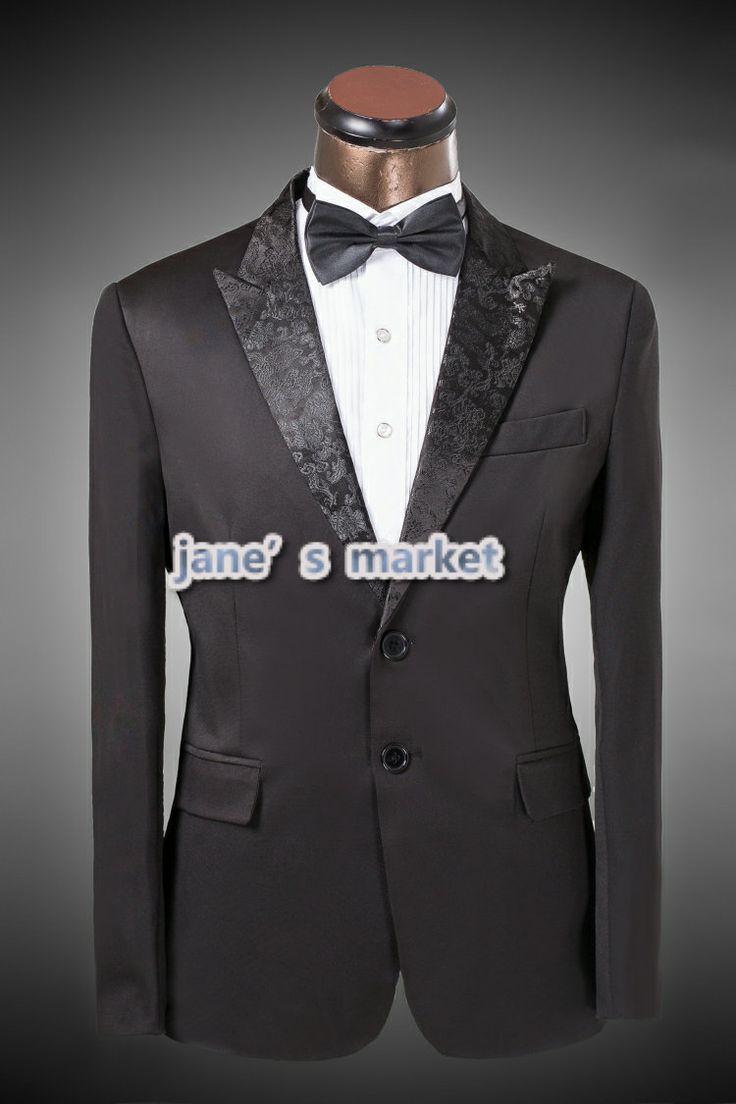 only $69.44 2014 Shawl Collar Button Pockets Men's Tuxedo Black Choir Tuxedo  For Wedding Man Free