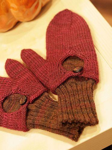 Dimorphous Mitts w/ Alternate Inner Mitt cool idea for fingerless glove…