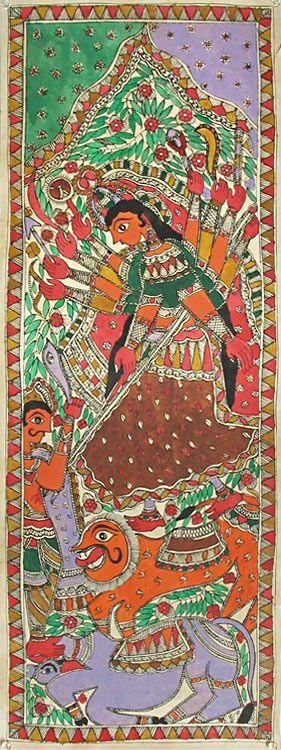 Madhubani folk art - Durga