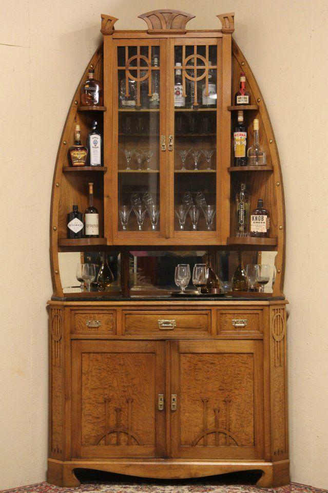 bar corner furniture. art nouveau vienna 1900 corner bar server cabinet marble top furniture i